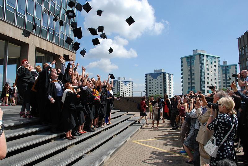 Graduation hat throw